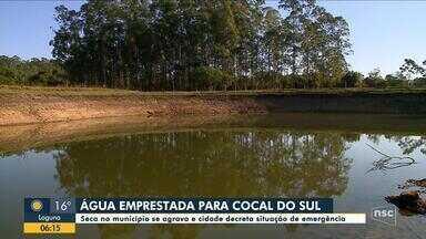 Cocal do Sul decreta situação de emergência por causa da seca - Cocal do Sul decreta situação de emergência por causa da seca