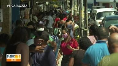 Jaboatão tem ruas cheias em primeiro dia útil das medidas restitivas - Cidade tem 1.874 casos confirmados e 170 mortes pela Covid-19.