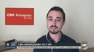 Internações de pacientes com Covid-19 em Araraquara supera a estimativa inicial - O apresentador da CBN Milton Filho traz mais informações.