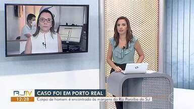 Corpo de homem é encontrado às margens do Rio Paraíba do Sul, em Porto Real - Segundo a Polícia Militar, ele foi achado na altura da Avenida Dom Pedro II, no bairro Vila Real.