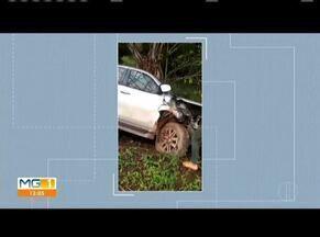 Carro de passeio bate na lateral de caminhonete, em Campanário - Acidente ocorreu na BR-116. Uma pessoa ficou gravemente ferida e foi levada ao hospital, em Teófilo Otoni.