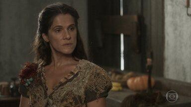 Elvira se recusa a ir ao velório de João Carlos - Ela diz a Germana que vai esperar por uma pessoa para um acerto de contas