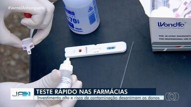 Farmácias são autorizadas a fazer teste rápido para Covid-19 em Goiás - No entanto, estabelecimentos devem seguir normas.