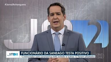 Funcionário da Saneago testa positivo para coronavírus em Goiás - Colaborador com coronavírus está isolado e outros 17 foram afastados.