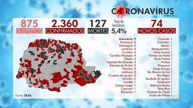 Mais 3 mortes por coronavírus são registradas no estado - As vítimas são uma mulher de 75 anos, de São José dos Pinhais, outra de 88 anos, de Curitiba, e um homem de 53 anos, que morava em Paranavaí.