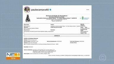 Infectado pelo novo coronavírus, governador de Pernambuco apresenta o exame - Através de uma rede social, Paulo Câmara (PSB) mostrou o exame que comprova que ele contraiu a doença.