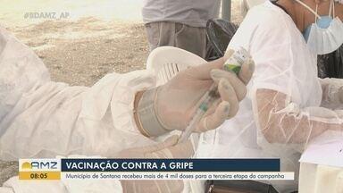 Santana recebeu mais de 4 mil doses para a terceira etapa da vacinação contra a gripe - Santana recebeu mais de 4 mil doses para a terceira etapa da vacinação contra a gripe
