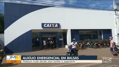 Prefeitura de Balsas muda decreto para facilitar pagamento do auxílio emergencial - Administração definiu horários para homens e mulheres sacarem o dinheiro.