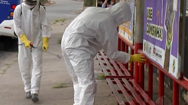 Exército higieniza espaços públicos em Santa Isabel - Eles estiveram na cidade nesta terça-feira (19). A próxima cidade da região a receber o trabalho será Ferraz de Vasconcelos.