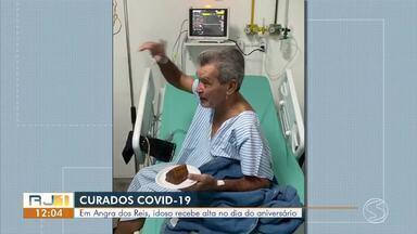 Curado da Covid-19, idoso recebe alta do hospital no dia do aniversário em Angra dos Reis - Com 80 anos, idoso deixou hospital no último domingo. Cidade tem 477 casos confirmados de coronavírus e 16 mortes pela doença.