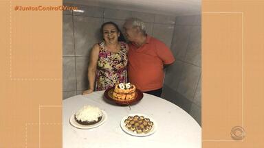 Casal pega coronavírus e ficam internados no mesmo hospital - Mulher já recebeu alta.