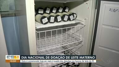 Por causa da pandemia, bancos de leite do ES registram queda no número de doações - Nesta terça-feira (19) é comemorado o Dia Nacional de Doação de Leite Materno.