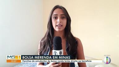 Governo de Minas começa pagar a segunda parcela do Bolsa Merenda nessa segunda-feira (18) - Famílias de estudantes de baixa renda terão direito ao benefício.