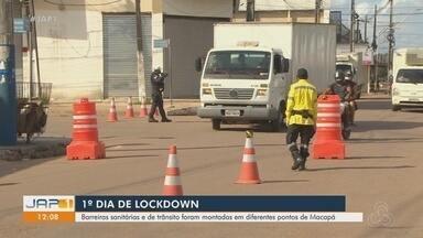 'Lockdown' no Amapá começa com barreiras de trânsito e rodízio de veículos em Macapá - Medida teve início nesta terça-feira (19) e segue até dia 28 de maio, segundo decreto. Objetivo é reduzir circulação de pessoas e veículos. Macapá é a quinta capital a adotar a ação restritivas.