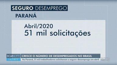 Chega a 51 mil o número de solicitações de seguro-desemprego no Paraná em abril - Os pedidos para ter acesso a esse benefício aumentaram em todo o país.