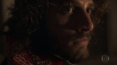 Joaquim segue Jacinto - Thomas é rude com Anna e exige que a esposa vá para o quarto. Joaquim se esconde de Jacinto