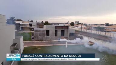 Casos de dengue aumentam e Porto Velho recebe fumacê - Veja como está sendo a ação.