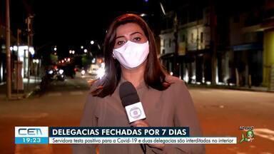 Duas delegacias no interior são fechadas por causa de inspetora infectada com a covid-19 - Confira mais notícias em g1.globo.com/ce