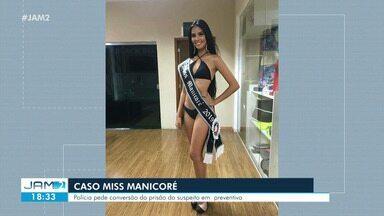 Mãe de miss morta em Manaus presta depoimento em Manaus - Mãe de miss morta em Manaus presta depoimento em Manaus
