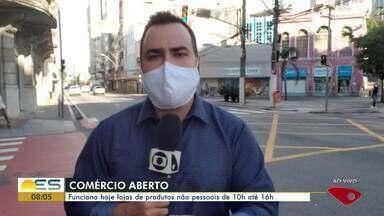 Veja quais lojas abrem nesta terça-feira (19) no ES - O repórter Aurélio de Freitas traz as informações.