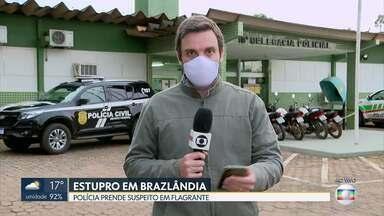 Polícia prende suspeito de estupro em Brazlândia - O homem de 43 anos é suspeito de estuprar um menino de 7 anos. Segundo a polícia, ele trabalhava na chácara dos pais da criança.