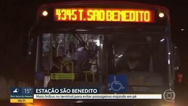 Estação São benedito registra superlotação - Sindicato prometeu mais ônibus no terminal para evitar passageiros viajando em pé