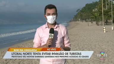 Cidades do litoral norte de SP adotam barreiras sanitárias em 'megaferiado' - Elas temem invasão de turistas.