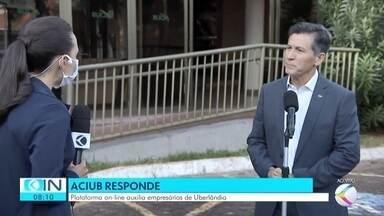 Aciub desenvolve plataforma on-line para auxiliar empresariado de Uberlândia - Presidente da associação explicou como funciona a ferramenta em entrevista ao Integração Notícia. O objetivo da iniciativa é esclarecer dúvidas de diversas naturezas, principalmente as que são referentes aos reflexos da pandemia da Covid-19.