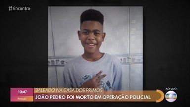 Pais de João Pedro, jovem morto aos 14 anos, conversam com o 'Encontro' - João Pedro foi morto em operação policial em uma comunidade de São Gonçalo, Rio de Janeiro