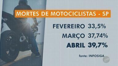 Número de mortes de motociclistas no trânsito aumenta no estado durante a quarentena - No mês de abril, quase 40% do número total de mortes no trânsito são motociclistas.