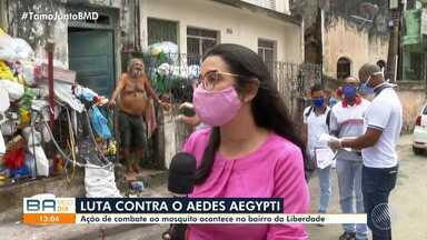 Ação de combate ao mosquito do Aedes Aegypti acontece no bairro da Liberdade - Doença preocupa muitos baianos.