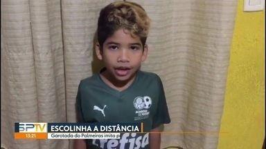 Escolinha do Palmeiras imita time profissional com treinos virtuais - Escolinha do Palmeiras imita time profissional com treinos virtuais
