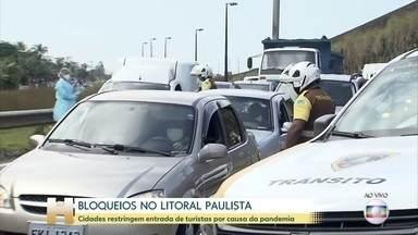 Coronavírus: Bloqueios impedem acesso de turistas no litoral sul de São Paulo - Os prefeitos da Baixada Santista estão preocupados com o avanço da Covid-19 na região.