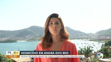 Mulher é encontrada morta dentro de casa, em Angra dos Reis - Segundo a Polícia Militar, assassinato aconteceu em imóvel da Rua Mário das Graças Toledo, no bairro Perequê. Agentes foram acionados pela irmã da vítima.