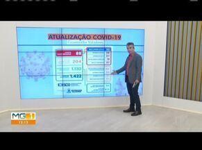 Telão mostra os números da Covid-19 em Governador Valadares - Prefeitura confirmou quatro novos casos de coronavírus nessa terça-feira (19).