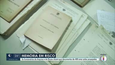 Crise em função do coronavírus ameaça arquivo público de Campos, que fez aniversário - Com demissão de 90% dos profissionais do arquivo e do museu, documentos com quase 400 anos de história estão ameaçados, segundo ex-funcionários, e, por isso, alguns até trabalham de graça.