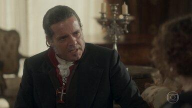 José Bonifácio estranha a traição de Chalaça - Leopoldina o convida a se hospedar no palácio