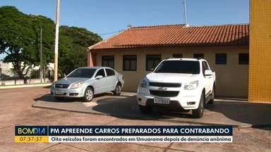 Polícia militar apreende carros preparados para contrabando - Oito veículos foram encontrados em Umuarama depois de denúncia anônima.