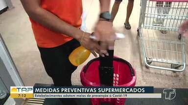Medidas preventivas devem ser realizadas em supermercados de Santarém - Essas ações combatem à Covid-19.