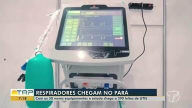 Novos respiradores chegam no Pará - Santarém também deve receber os equipamentos.