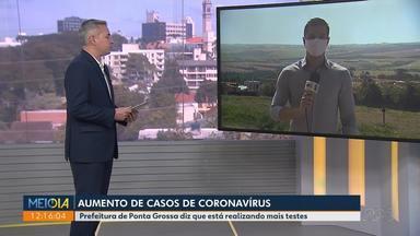 Aumento de casos de coronavírus - Ponta Grossa tem 47 casos confirmados; no dia 1° eram 16.