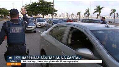 Fiscalização para turistas de São Paulo tem barreira na Beira-Mar Norte em Florianópolis - Fiscalização para turistas de São Paulo tem barreira na Av. Beira-Mar Norte em Florianópolis