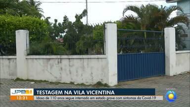 Idoso de 110 anos é internado com suspeito de coronavírus - Idoso é morador da Vila Vicentina, em João Pessoa.