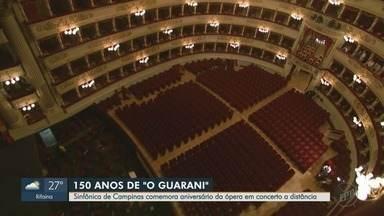 Orquestra Sinfônica de Campinas, SP comemora 150 anos - Por conta da pandemia do novo coronavírus a comemoração presencial teve que ser cancelada e substituída por uma live.