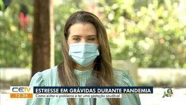 Veja as dicas para gestantes de como evitar o estresse durante a pandemia - Saiba mais em g1.com.br/ce