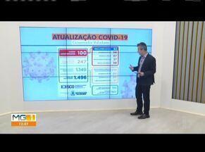 Telão mostra os números da Covid-19 em Governador Valadares - Número de infectados chegou a 100, no município.