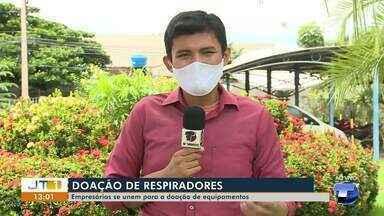 Reforço contra a Covid-19: Empresários santarenos se unem para doar respiradores - Equipamentos devem ser doados às unidades hospitalares de Santarém.