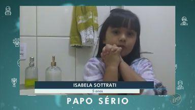 Coronavírus: papo sério de Enrico e Isabela - Crianças de 10 e 5 anos comentam a pandemia e falam sobre a importância da higienização das mãos e do uso de máscaras.