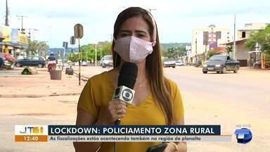 Em Santarém, fiscalizações acontecem também na zona rural do município - Policiamento é para fazer valer os decretos municipais.