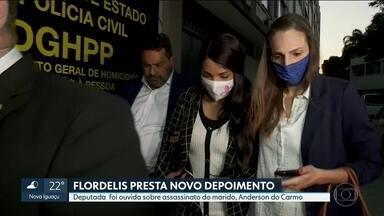 Flordelis presta novo depoimento na Delegacia de Homicídios de Niterói - Deputada federal foi ouvida pela terceira vez sobre o assassinato do marido, o pastor Anderson do Carmo.